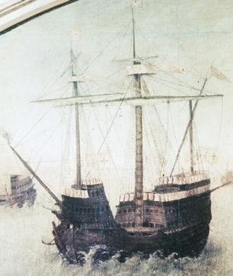Battle of Shancaowan - A heavy 16th century Portuguese carrack
