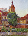 Postcard of Ljubljana Cathedral (Šantel).jpg
