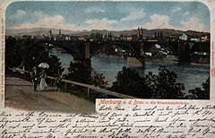 Postcard of Railway Bridge in Maribor 1902.jpg