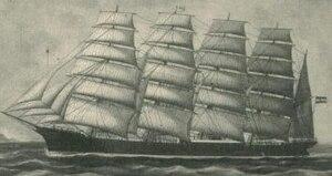 Potosi (barque) - Image: Potosi unter vollen Segeln