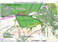 PrP Skvorecka obora-Kralicina extent map.png