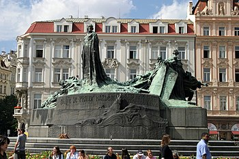 Monument of Jan Hus, erected in 1915