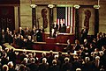President George H. W. Bush addresses a joint session of Congress regarding the end of the war with Iraq. U.S. Capitol, Washington, DC.jpg