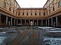 Primo cortile del Liceo ginnasio statale Benedetto Cairoli con neve - Vigevano.jpg
