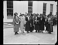 Prominent Republican women call on Pres. to discuss the part of women will play in the coming election. Lft to rt.- Miss Lucille Atcherson, State Dept., Mrs. B.P. Bruggmann, US Compensation LCCN2016893514.jpg
