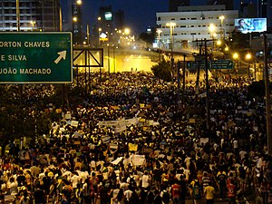 2013 protests in Brazil - Protesters in Natal
