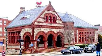 New London Public Library - Image: Public Library New London CT crop
