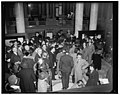 Public views Magna Carta after deposited in Congressional Library. Washington, D.C., Nov. 28. Shortly after the historical Magna Carta was placed in the Congressional Library for safekeeping LCCN2016876673.jpg