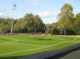 Kroksbäcksparken - Image: Puckelfotbollsplan, Kroksbäck, Malmö