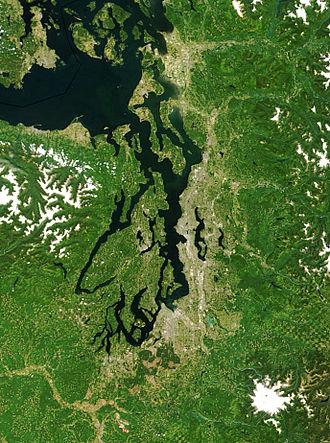 Puget Sound - Puget Sound – MODIS image