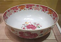 Punchbowl, unidentified maker, China, c. 1765, porcelain - Albany Institute of History and Art - DSC08001.JPG