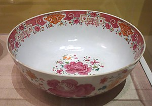 Canton porcelain - Image: Punchbowl, unidentified maker, China, c. 1765, porcelain Albany Institute of History and Art DSC08001