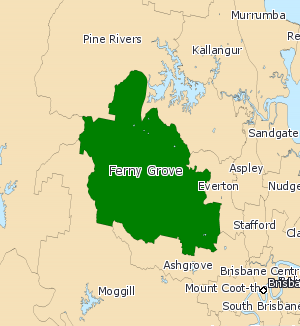 Electoral district of Ferny Grove - 2008 map