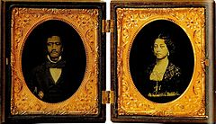 Queen Emma and Kamehameha IV (framed).jpg