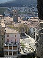 Quillan church tower from castle - panoramio.jpg