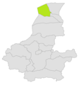 Qurghan district location in map of Faryab province.png
