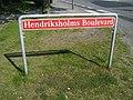 Rødovre Street Sign Hendriksholms Boulevard.JPG