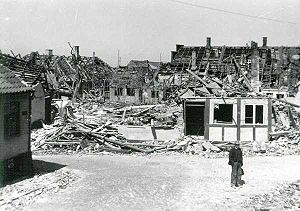 Rønne - Soviet bomb damage in May 1945