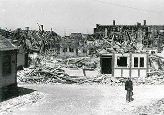 Rønne - Soviet bomb damage in May 1945