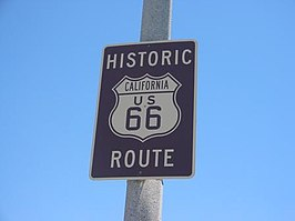 Route 66-bord in Californië