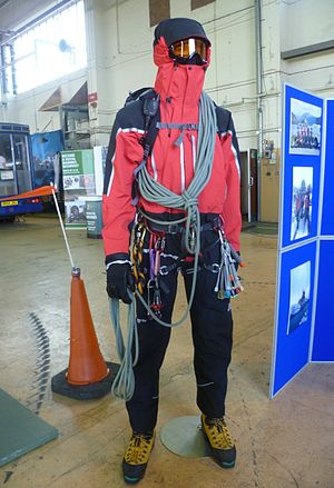 Royal Air Force Mountain Rescue Service - RAF mountain rescue equipment displayed at the Leuchars Airshow, 2012