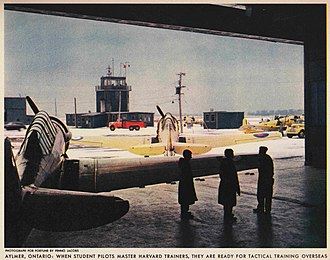 RCAF Station Aylmer - Control Tower in 1941