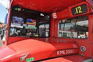 AEC Routemaster - Driver's cab of RML2551