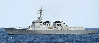 Sejong the Great-class destroyer - Image: ROKS Sejong the Great (DDG 991) broadside view