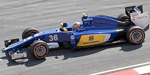 Sauber C34 - Image: Raffaele Marciello 2015 Malaysia FP1 1