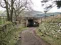 Railway Underpass and Footpath at Woodhall Farm - geograph.org.uk - 1775955.jpg