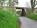 Railway bridge over the back road from the A75 to Glenluce Abbey - geograph.org.uk - 163848.jpg