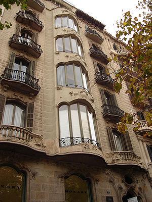 Enric Sagnier - Casa Fargas, Rambla de Catalunya, 47, Barcelona (1902-4)