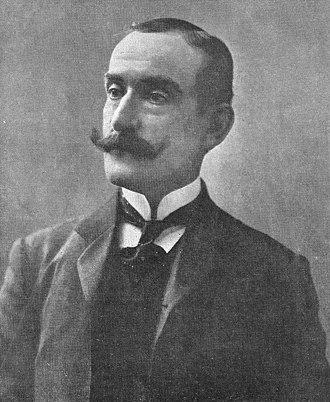 Ramón Lorenzo Falcón - Falcón on the cover of Caras y Caretas, 1909.
