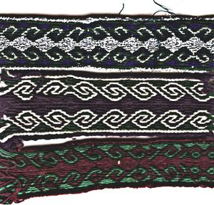 Tablet weaving - Ram's Horn pattern of tablet weaving