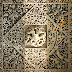 Ranakpur - Image: Ranakpur Jain Tempel Ornament
