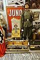 Range finder of Nazi Germany Navy Kriegsmarine, enamel advertising sign Juno cigarettes, German soldier, SS minefield warning Achtung Minen, machinegun MG42, Wehrmacht decal sign, etc. Lofoten Krigsminnemuseum, Norway 2019-05-08 DSC0027.jpg