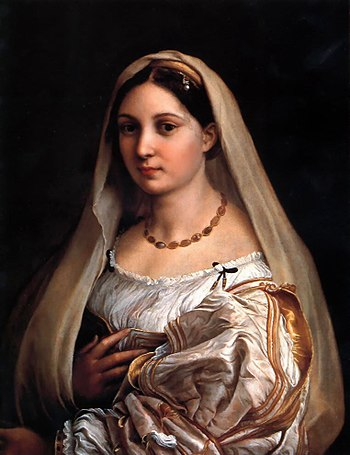 """Woman with a veil (La Donna Velata)"", painted 1516."