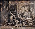 Raphael sadeler I, cena in emmaus, da jacopo bassano, 1593.jpg