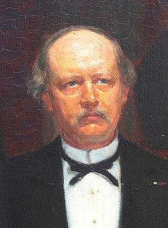 Rasmus Malling-Hansen - Rasmus Malling-Hansen, detail from a painting by Malthe Engelsted's painting L'Hombre (1887).