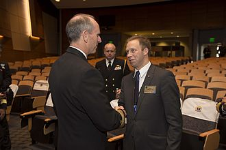 Michael Noonan (admiral) - Rear Admiral Mike Noonan (right) says farewell to US Chief of Naval Operations Admiral Jonathan Greenert