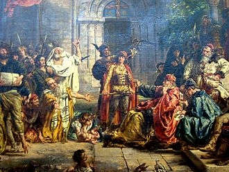 Bolesław III Wrymouth - Reception of Jews in Poland in 1096, Painting by Jan Matejko.