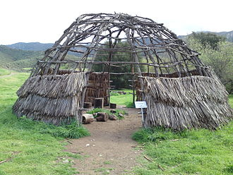 Satwiwa - A Chumash 'ap (house) at the demonstration village.