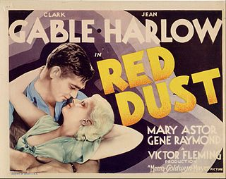 <i>Red Dust</i> (1932 film) 1932 film by Victor Fleming