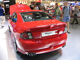 Red Vauxhall Monaro VXR rear.jpg