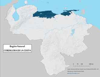 Venezuelan Coastal Range - Image: Region Natural Cordillera De La Costa