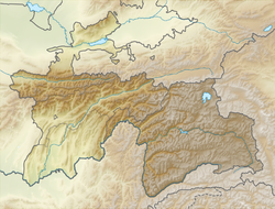 Location map Tajikistan is located in Tajikistan
