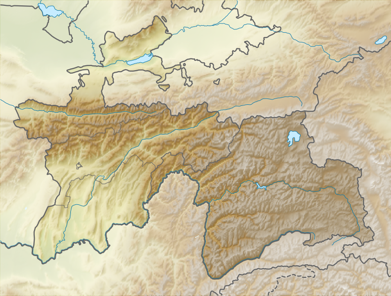 Datei:Relief Map of Tajikistan.png