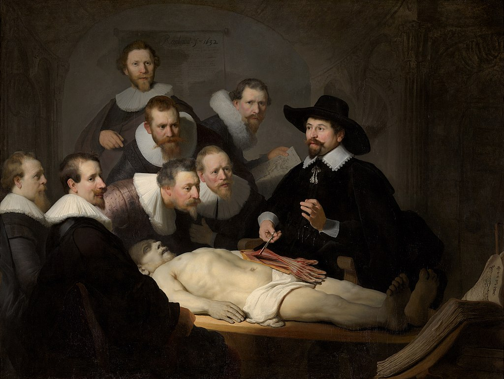"""The Anatomy Lesson of Dr. Nicolaes Tulp"" by Rembrandt"
