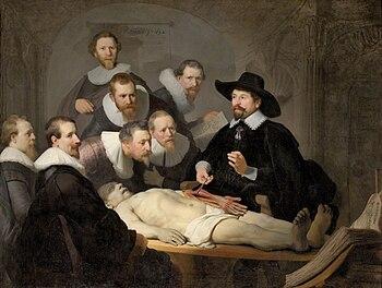 """Описание картины Рембрандта """"Урок анатомии доктора Тульпа"""""""