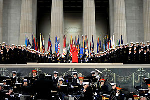 Renée Fleming - Fleming performs at We Are One: The Obama Inaugural Celebration at the Lincoln Memorial on January 18, 2009.